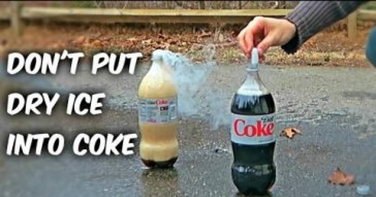 Here Is What Happens If You Put Dry Ice Into Coke!
