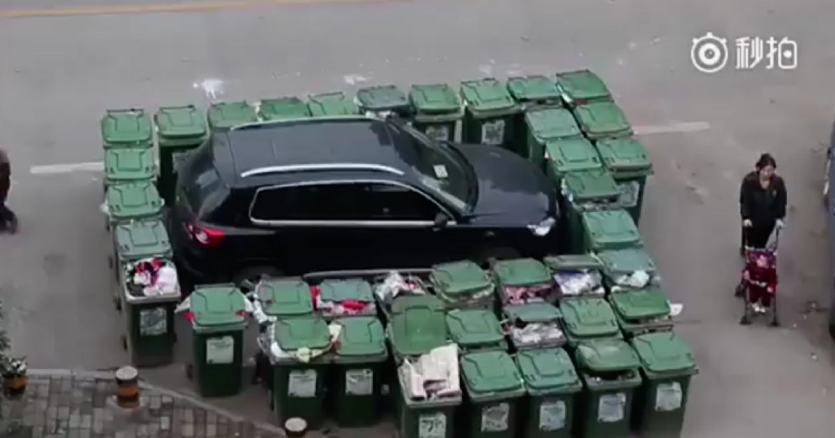 Garbage Man Gets Revenge After Car Parks In Trash Collection Area
