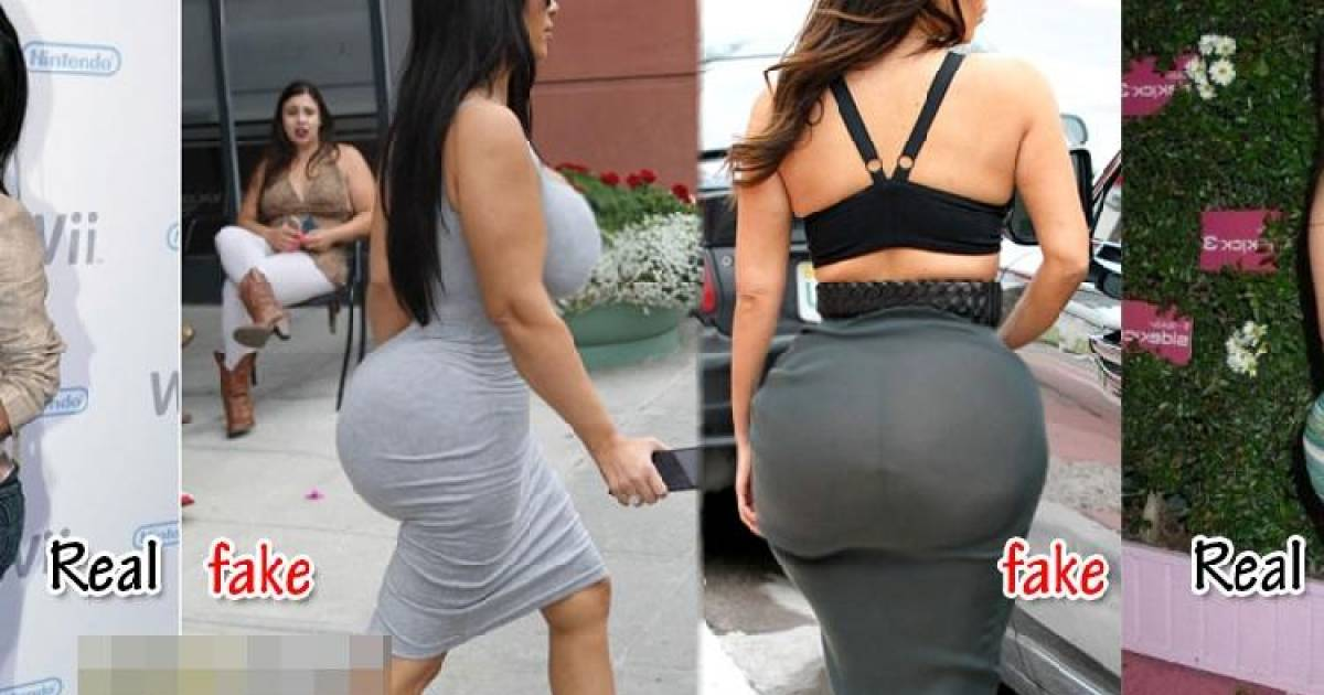Shocking Photos That Prove Kim Kardashian's Butt Is Fake