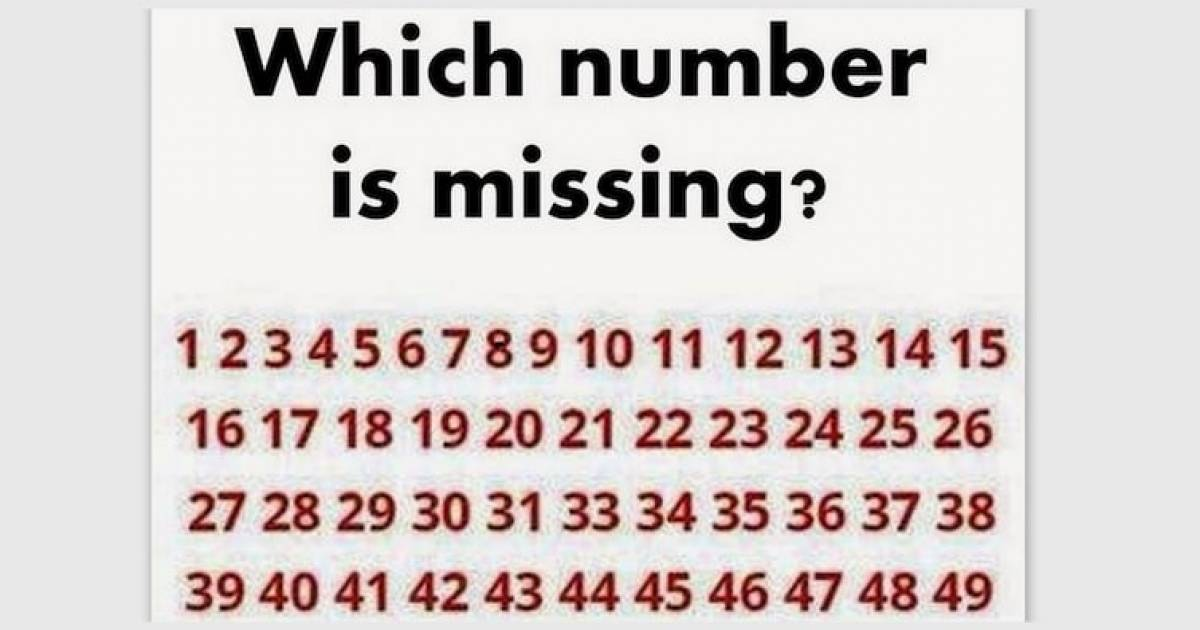 Try And Spot The Missing Number Here