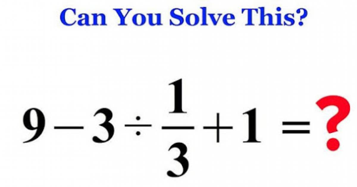 Only 1 In 10 People Can Solve This Elementary School Math Problem