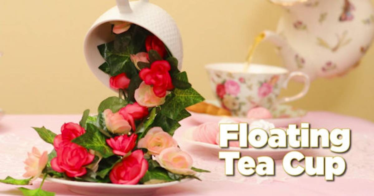 Make An Easy DIY Floating Teacup Decoration