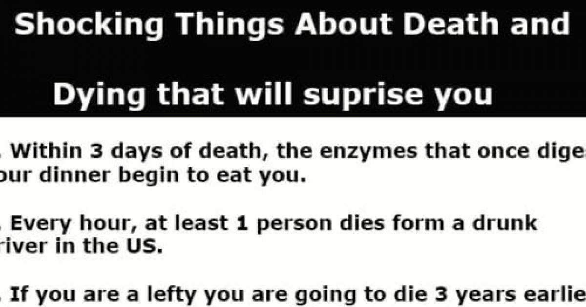 7 Surprising Facts About Death And Dying That May Shock You