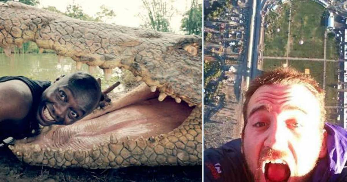 15 Photos That Prove People Will Do Anything For A Selfie