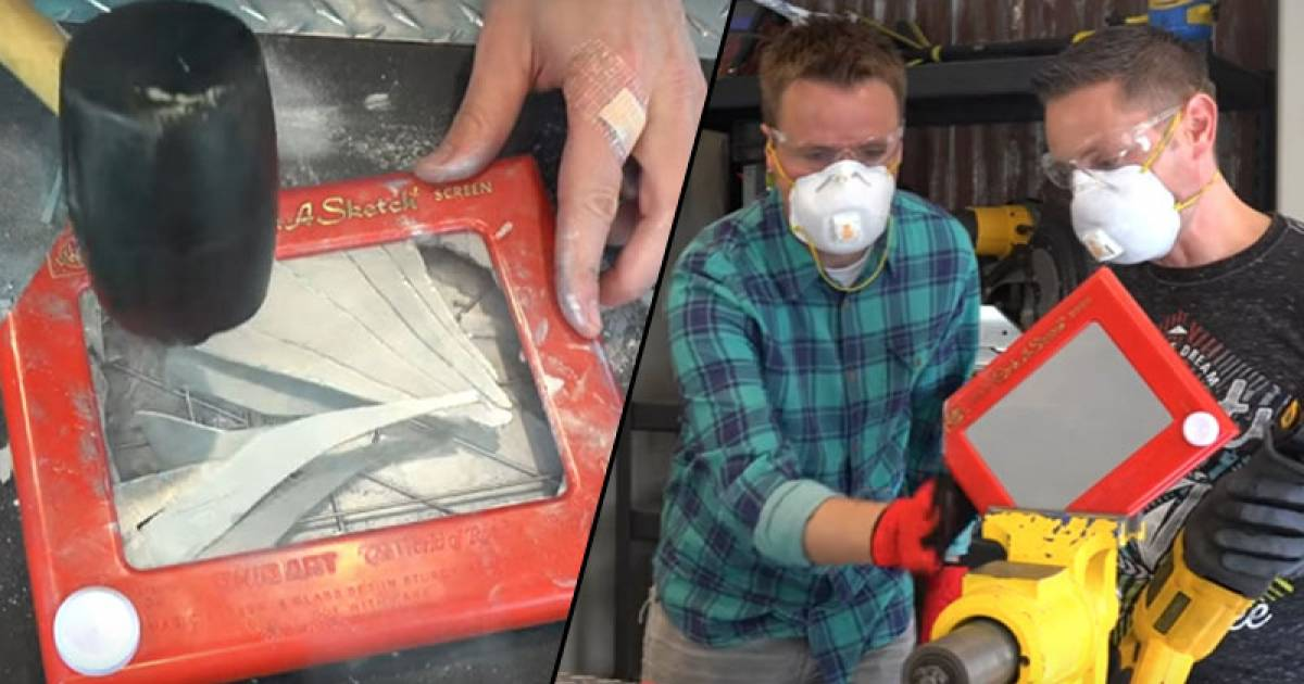 Have You Ever Wondered What The Inside Of An Etch A Sketch Looks Like? Well, Wonder No More.