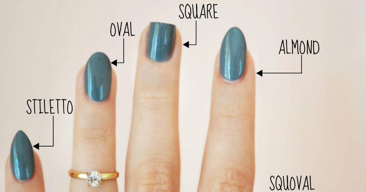 "The Nail Shapes Dictionary: All The Need-To-know Styles, From ""Squoval"" To ""Coffin"""