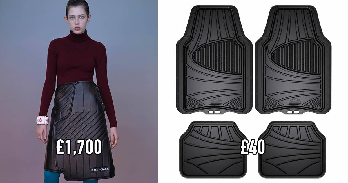 The Internet Can't Stop Laughing At Balenciaga's $2200 Skirt That Looks Like A Car Mat