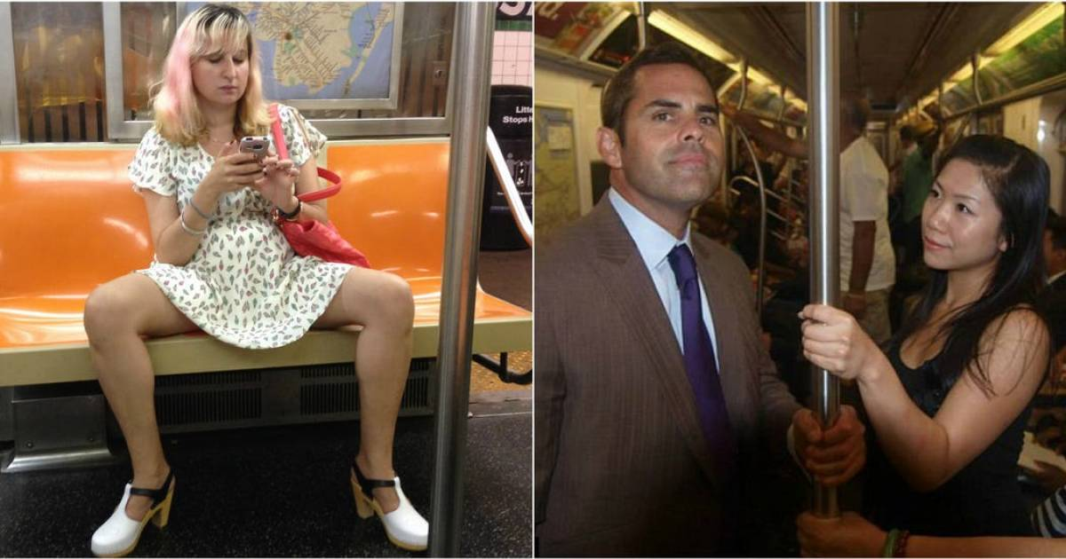 Weird Images Of Women Taken On Subways