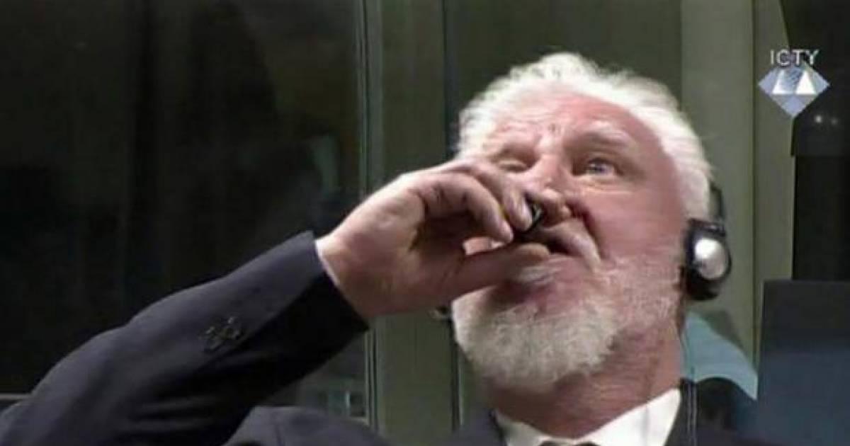 Bosnian Croat War Criminal Dramatically Dies After Swallowing Poison In U.N. Court