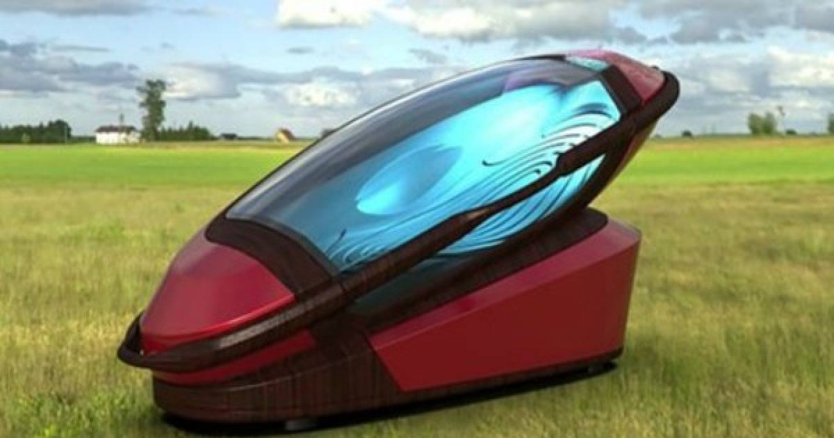 This May Look Like A Spaceship, But It Is Actually A Euthanasia Capsule