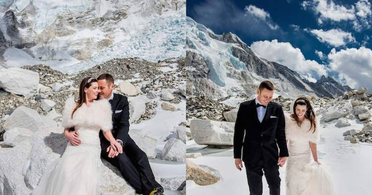 This Couple Got Married On Mount Everest. Their Wedding Pictures Are Next-Level And Breaking The Internet