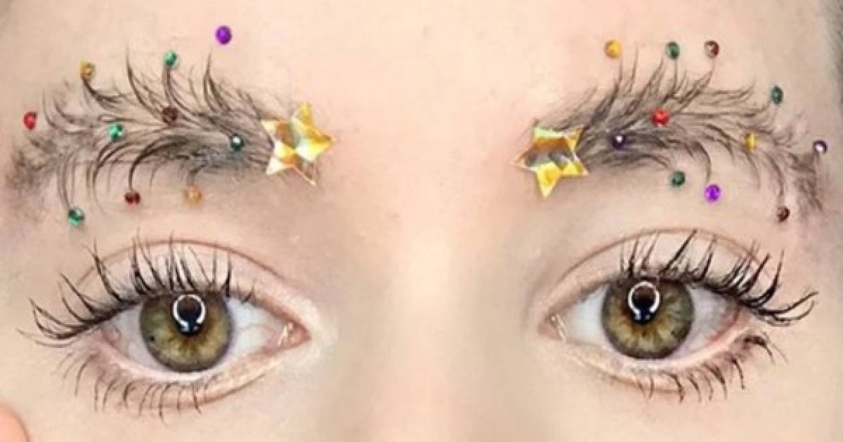 Are Christmas Tree Eyebrows The Latest Beauty Trend?
