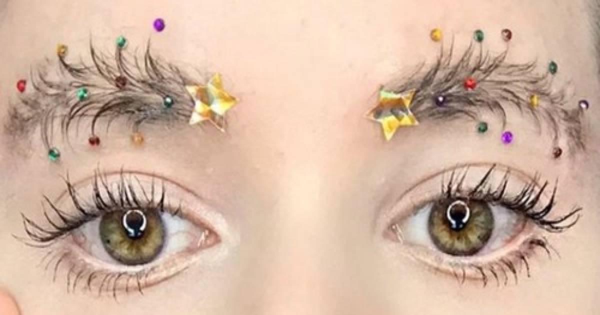 Are Christmas Tree Eyebrows The Latest Beauty Trend Vaplicious
