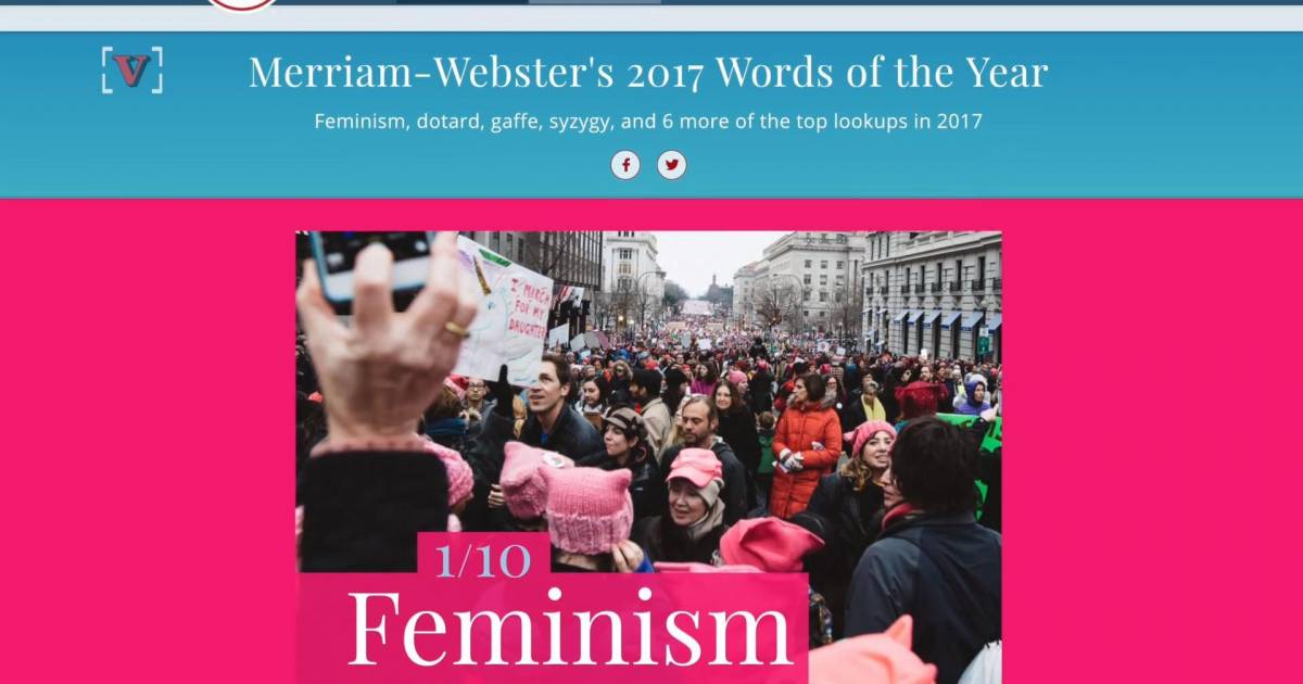 Merriam-Webster's Revealed 'Feminism' As Word Of The Year