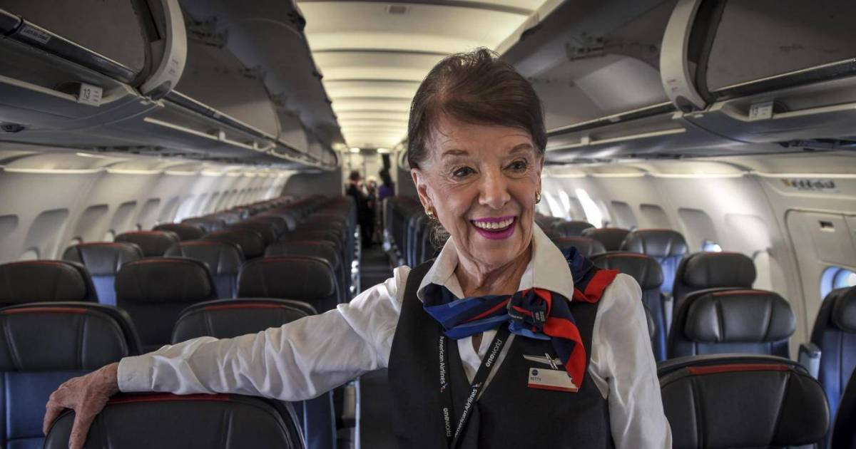 This 81-Year-old Has Been A Flight Attendant For About 60 Years And Has No Plans To Retire Just Yet