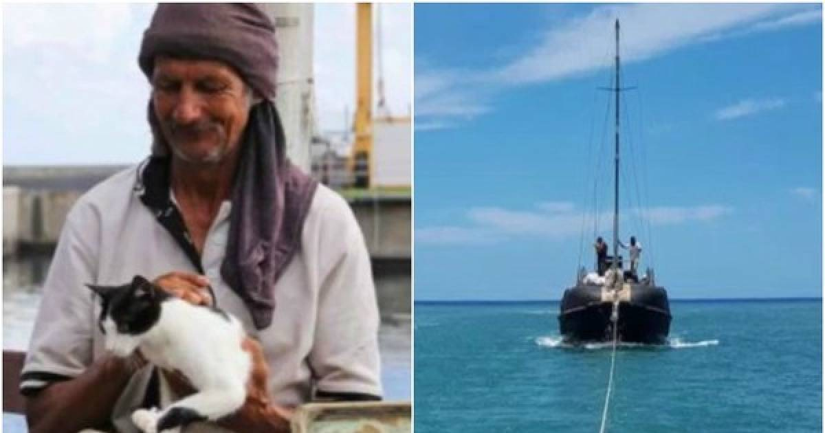 A Sailor And His Cat Have Been Found After Seven Months At Sea In A Broken Boat