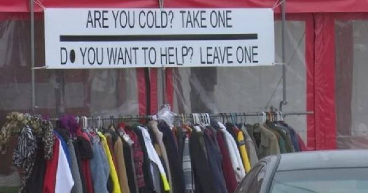 Taco Shop Owner Collects And Passes Out Coats For The Homeless