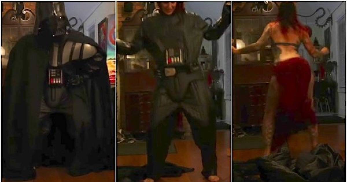 Wife Surprises Her Husband With An Epic Darth Vader Strip Tease