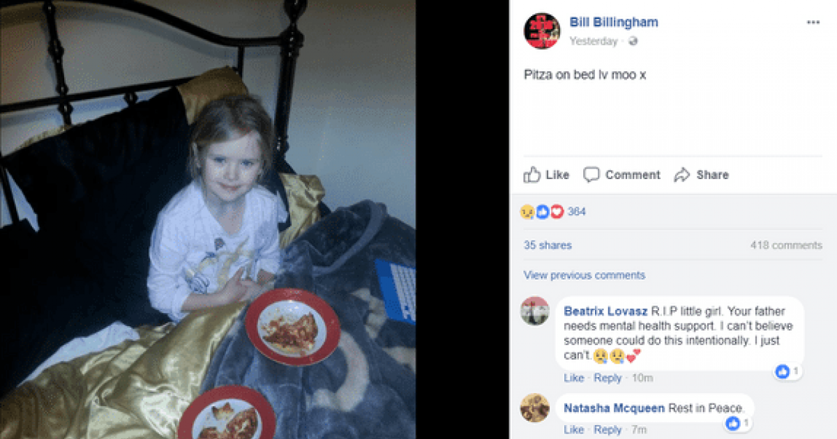 Dad Posts Picture Of Daughter Eating Pizza On Social Media One Hour Before She Was Murdered