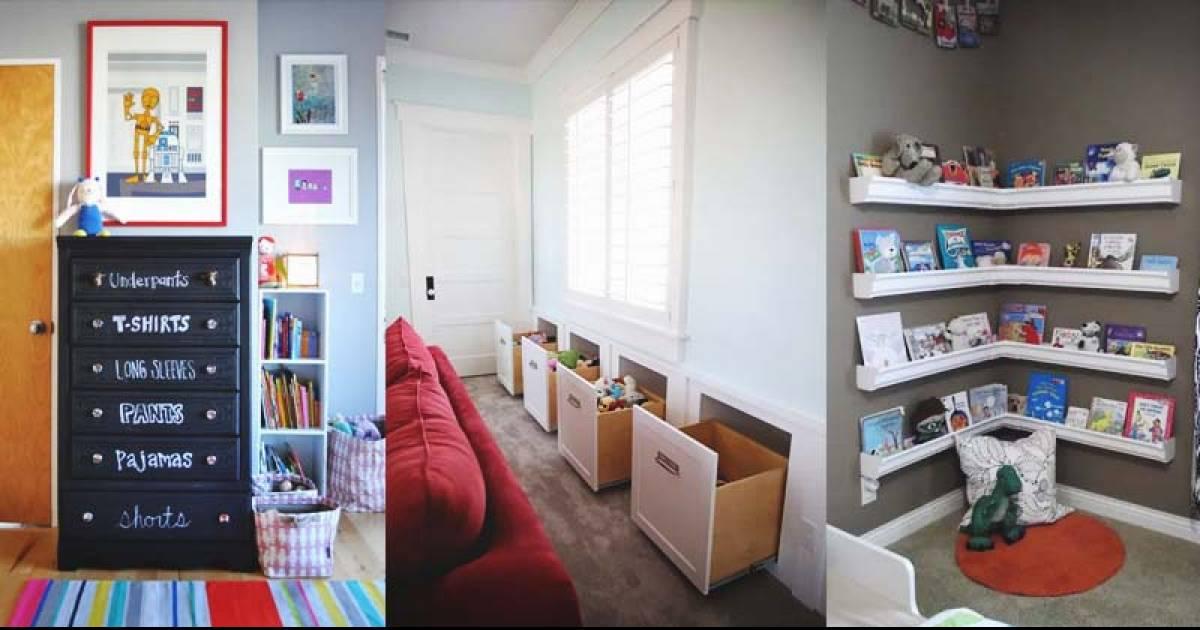 Ten Ways To Organize Your Kid's Rooms