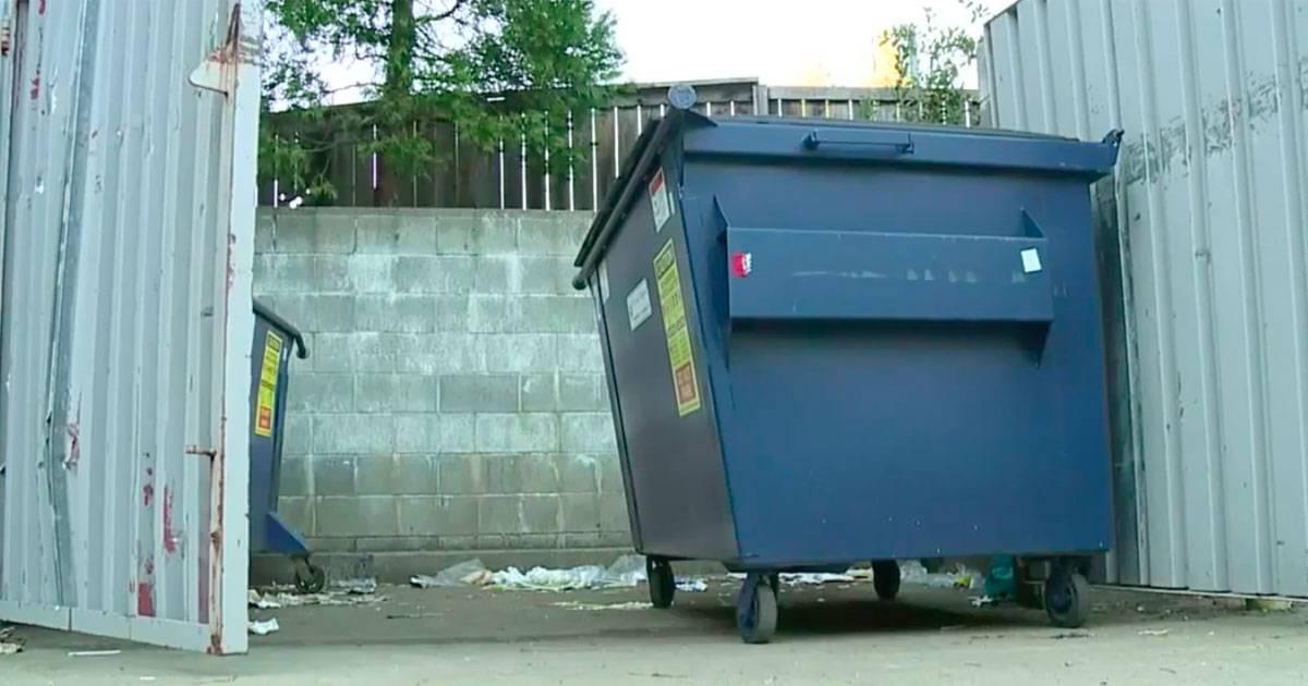 Maintenance Worker Finds Helpess Puppy Inside Dumpster