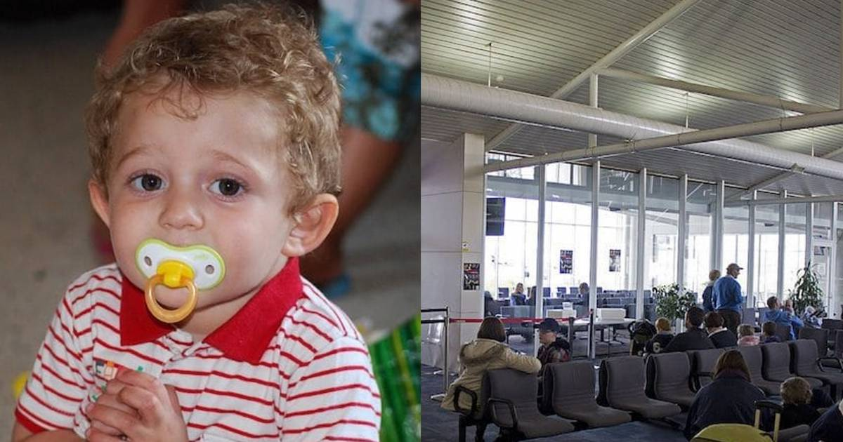 Overwhelmed Pregnant Mom Starts Crying When Her Toddler Starts Throwing Tantrum At The Airport Refusing To Board The Plane, Amazing Strangers Circle Around Her To Help