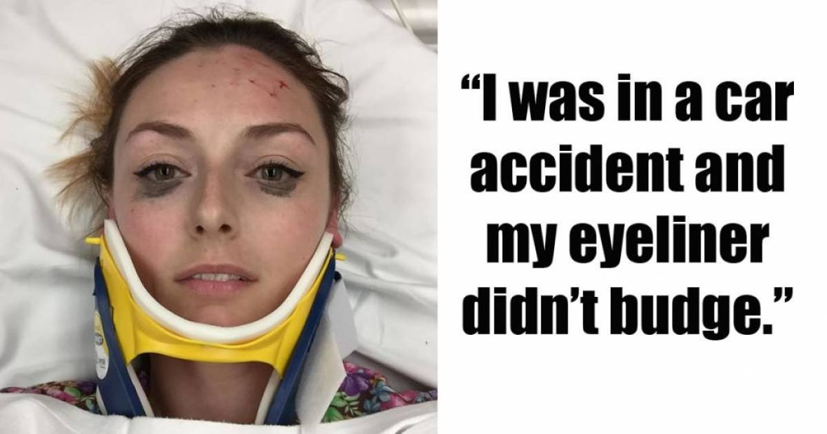 Woman's Funny Eyeliner Review After Horrible Car Accident Goes Viral Because It's Extra AF