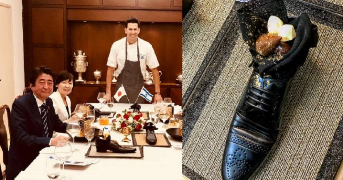 Japan's Prime Minister Highly Offended By Israel After Being Served Food In A Shoe