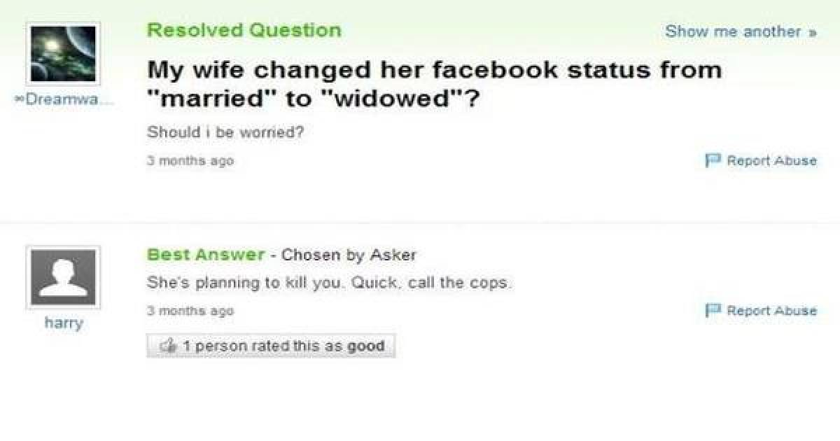 Yahoo Answers Really Can Provide You With Hours Of Entertainment