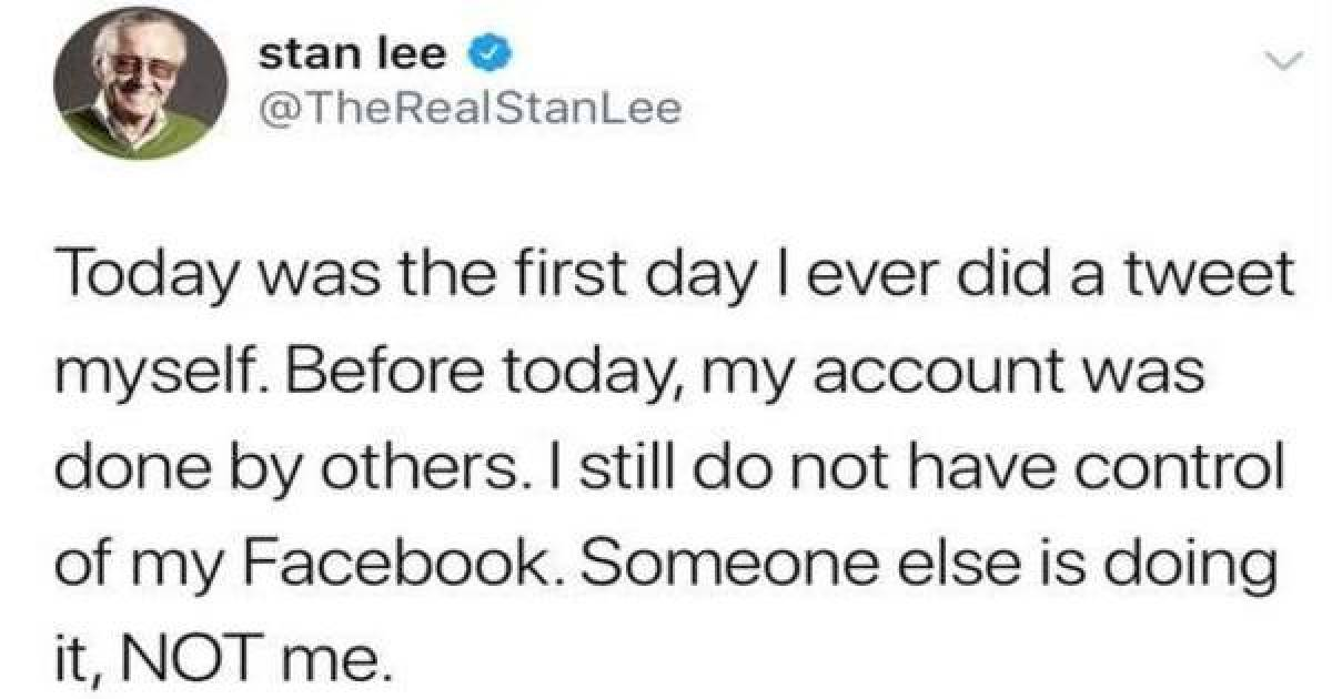 Did You Know Stan Lee Has A Twitter Account? He Is Too Cute!