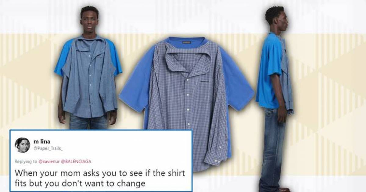 Balenciaga's $1,290 'T-Shirt Shirt' Has Twitter Deeply Confused