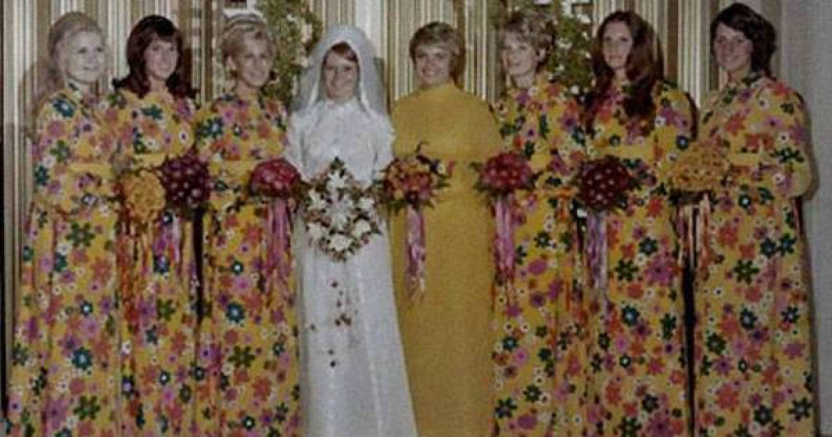 These Bridesmaid Dresses From The Past Are Truly Cringe-Worthy