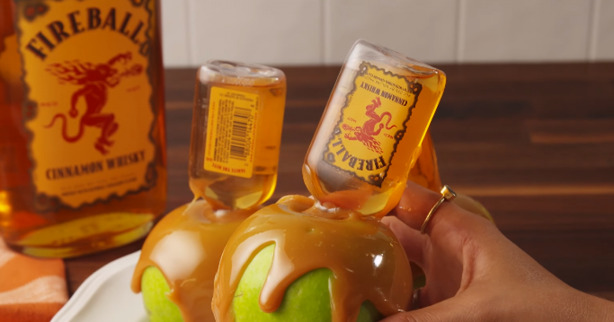 Caramel Apples Infused With Fireball Whiskey Is Probably The Greatest Thing Ever!