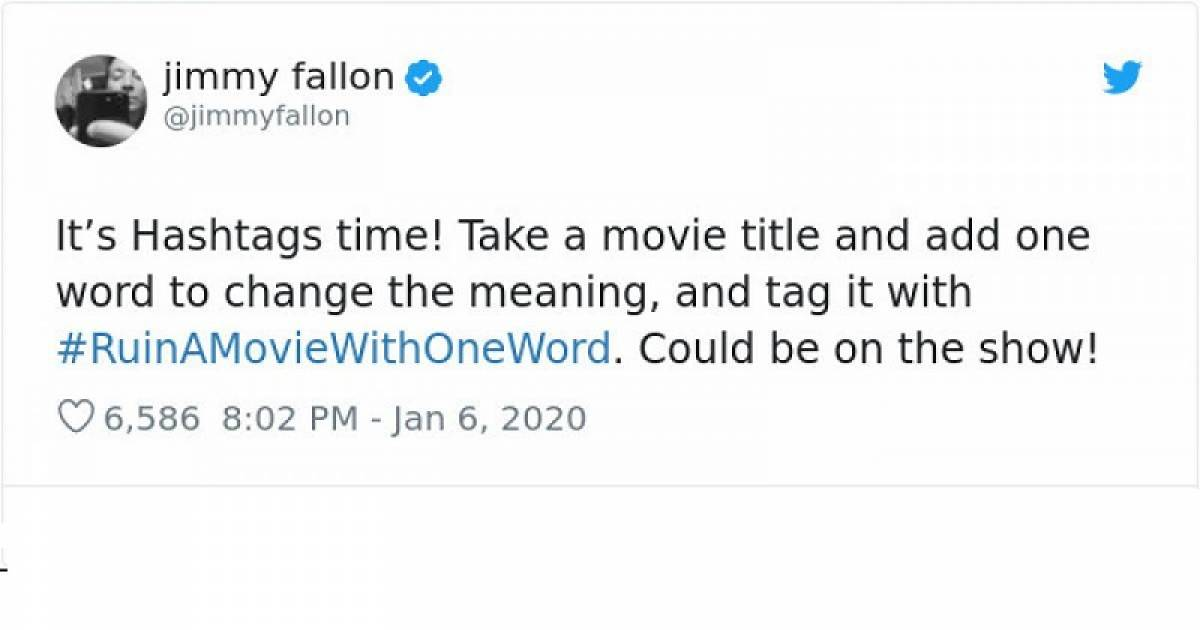 Jimmy Fallon Asked Social Media Users To Ruin Movies Using One Word, Gets Hilarious Responses In Return