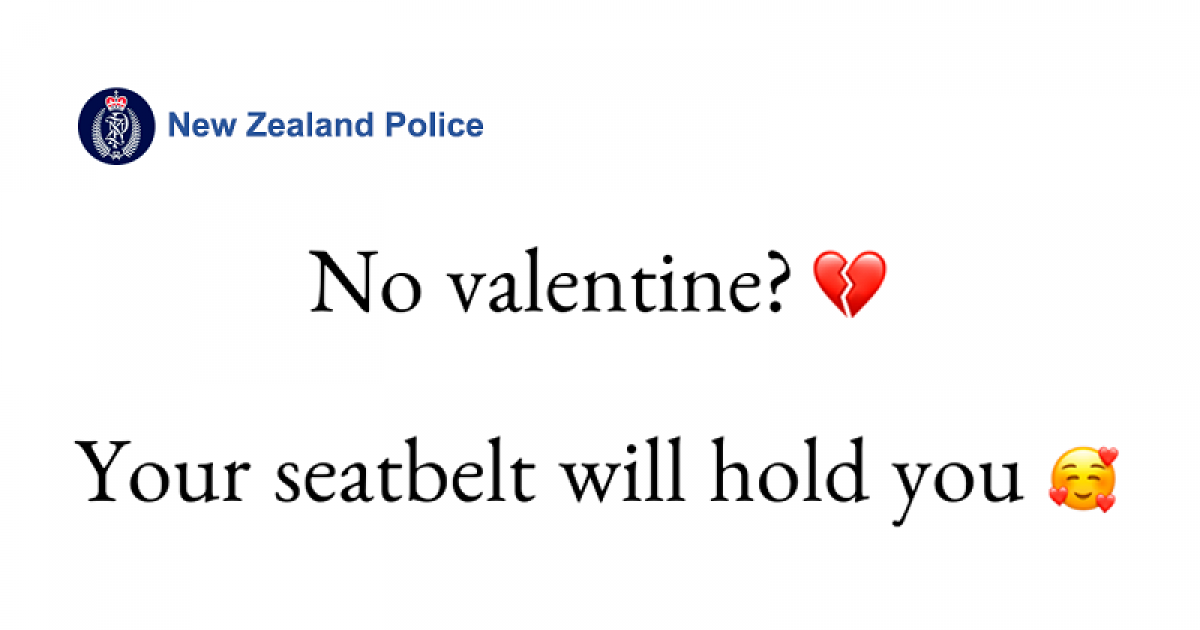 New Zealand Police Uses Cute Captions To Teach People Important Messages