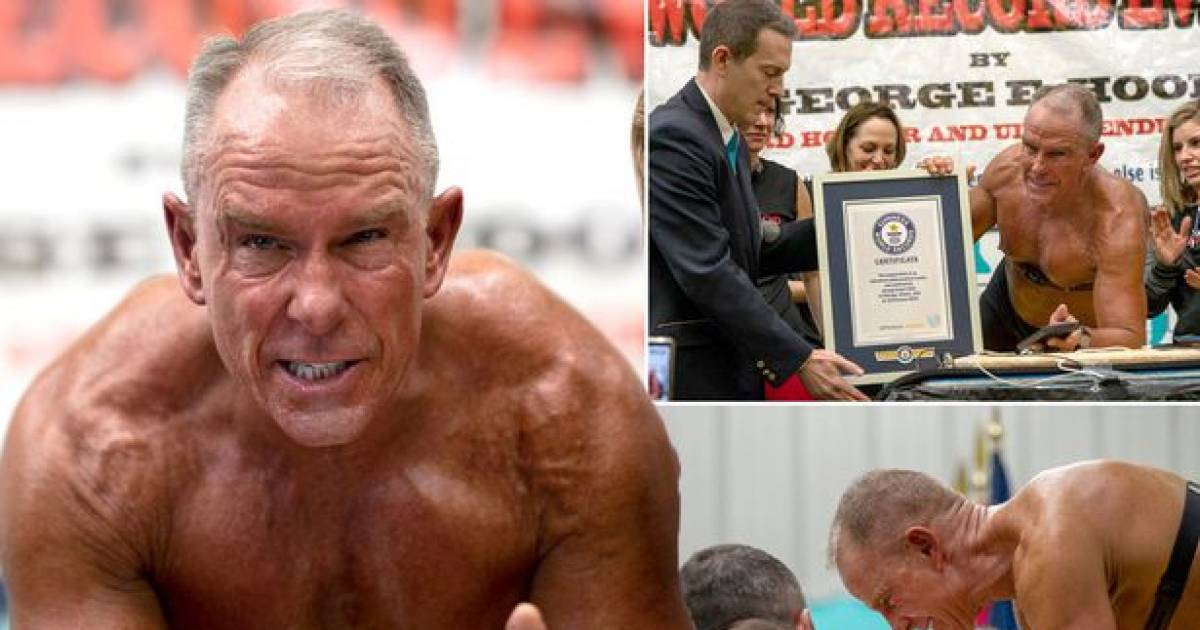 60-Year Old Ex-US Marine Sets New World Guinness Record For Holding Plank For More Than 8 Hours