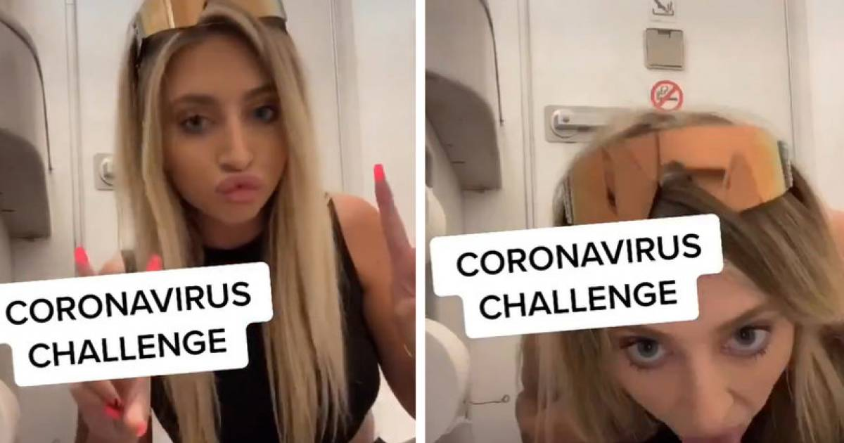 "Tik Tok Star Gets Bashed After She Posts A Vile Video Of Her Licking Airplane Toilet Seat For The ""Coronavirus Challenge"""