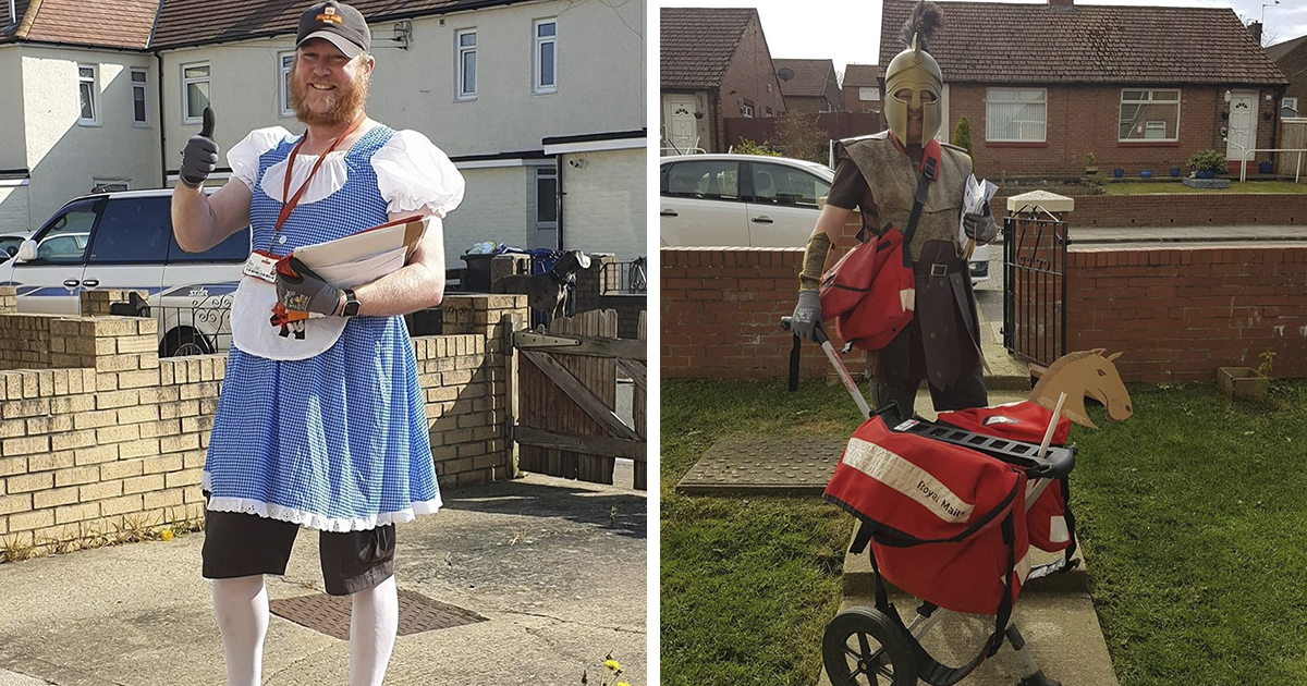 Postman Dresses Up In Cute Outfits Each Day To Cheer Up People In Lockdown