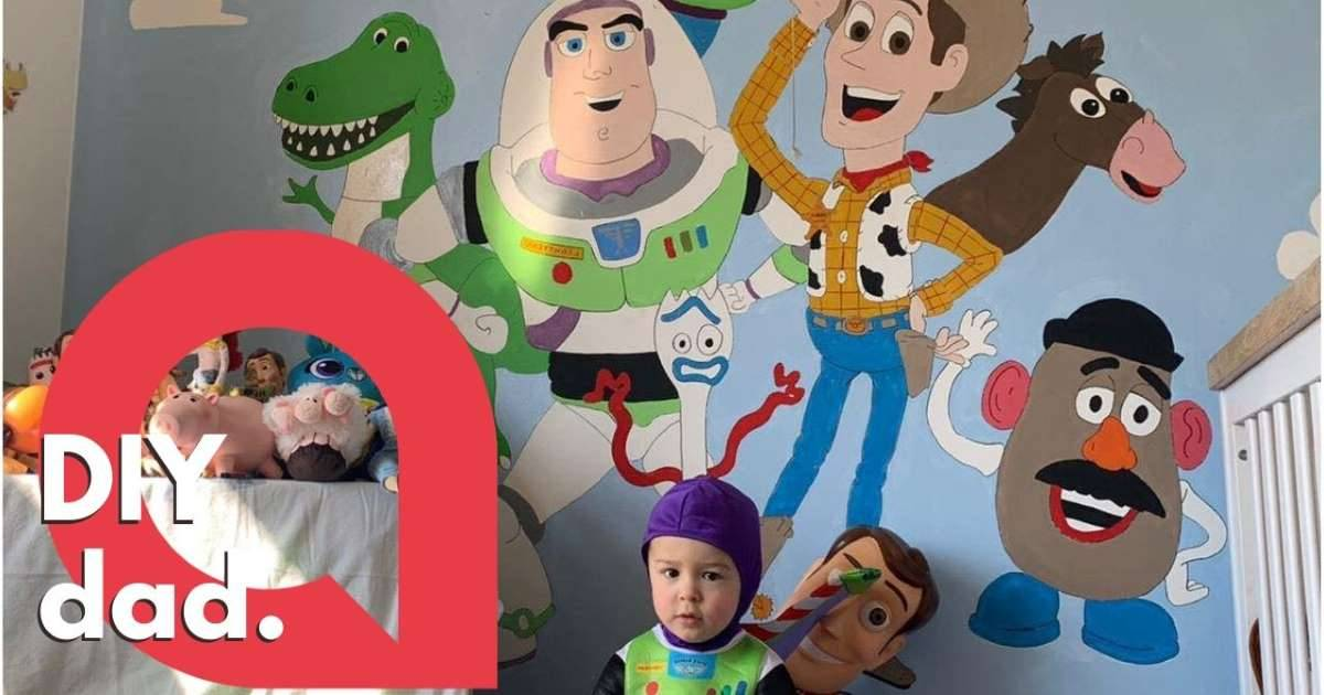During Lockdown, Dad Creates An Amazing Toy Story Themed Bedroom For His 2-Year Old Son