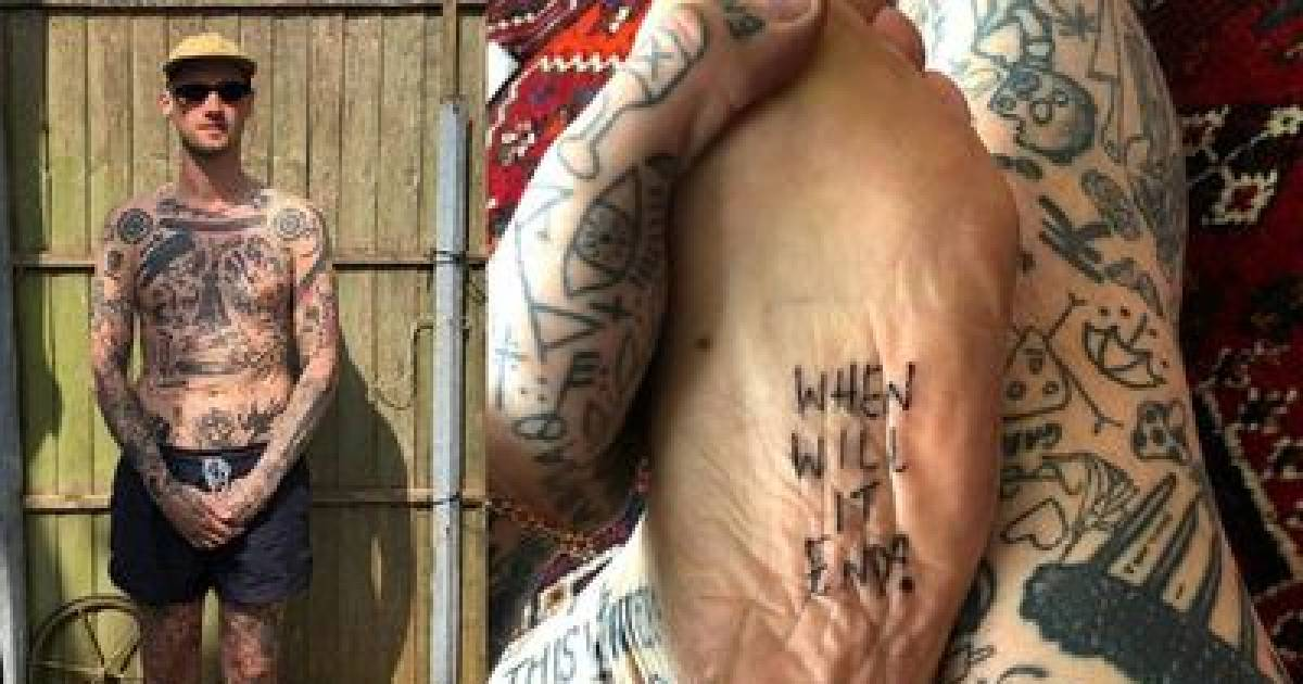 Meet The Man Who Tattoos Himself Everyday Since Going Into Isolation Because Of The Pandemic