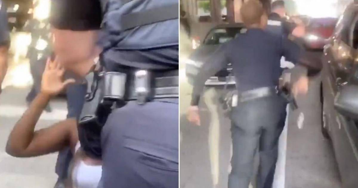 Black Female Police Officer Stands Up For A Protestor After The Cop Pushed A Kneeling Woman