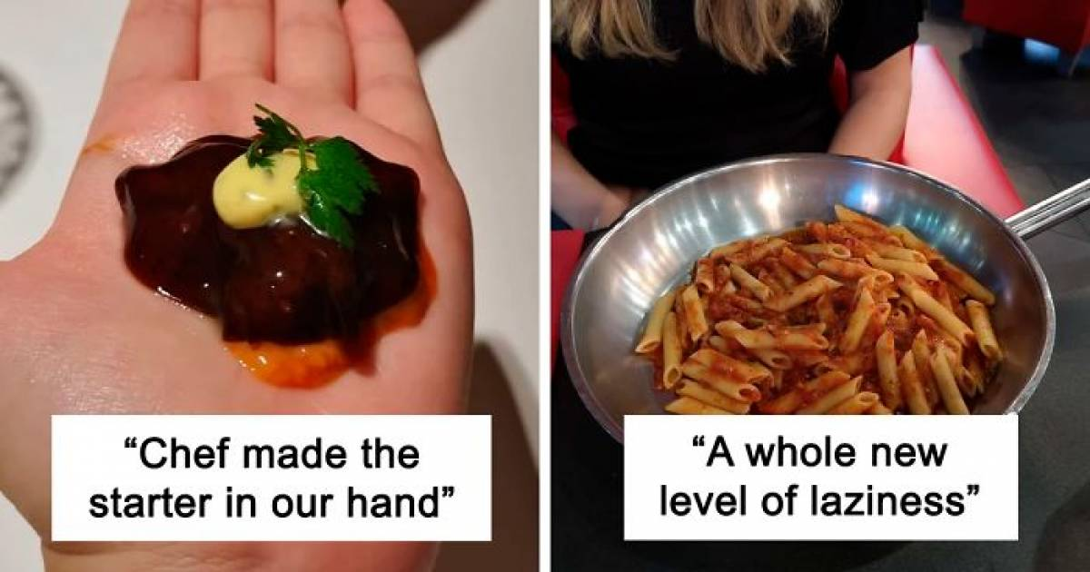 20 People Who Got Food Served In The Most Absurd And Embarrassing Way At The Restaurants