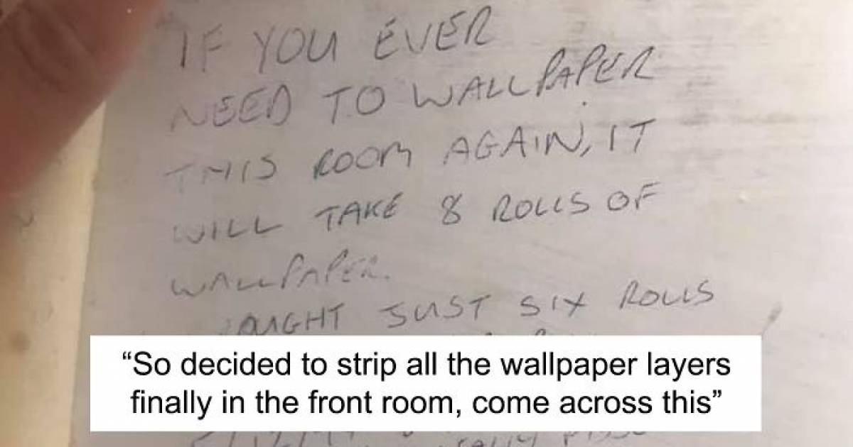 Couple Redecorating Their House Find Hilarious Note Advice Written On The Wall By Previous House Owner In 1997