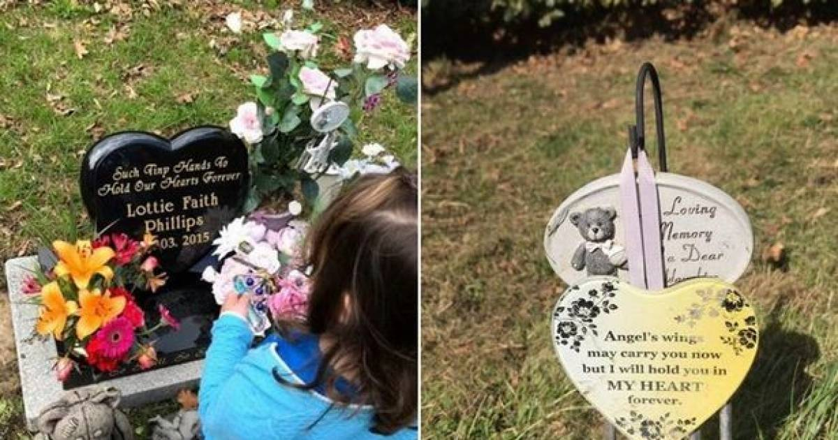 Mom Left Heartbroken After Items From Baby Daughter's Grave Were Stolen