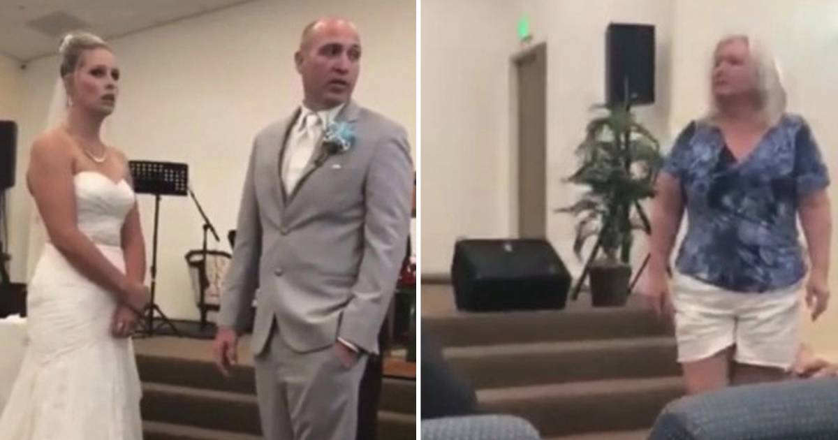 Bizarre Moment When Mother-In-Law Rudely Interrupts Wedding After Bride Said She Loved His 'Flaws'