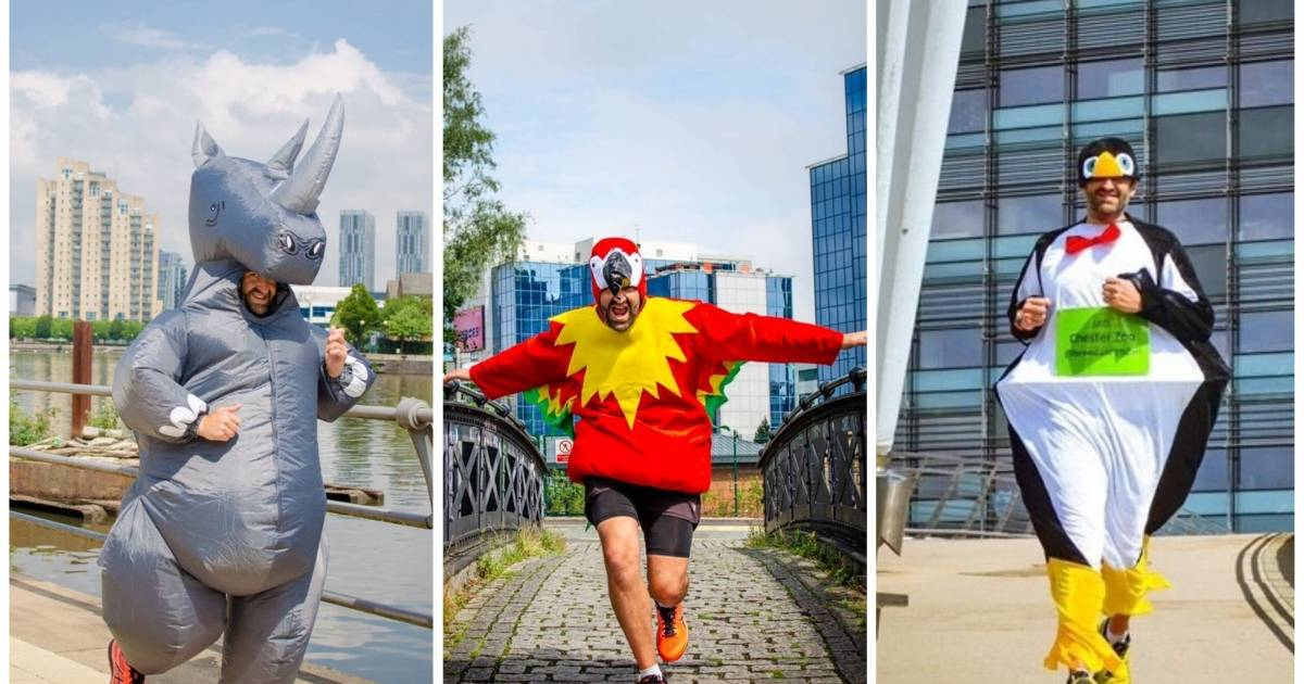 Teacher Dressed As A Penguin Runs 31 Marathons In 31 Days To Raise Funds For Chester Zoo