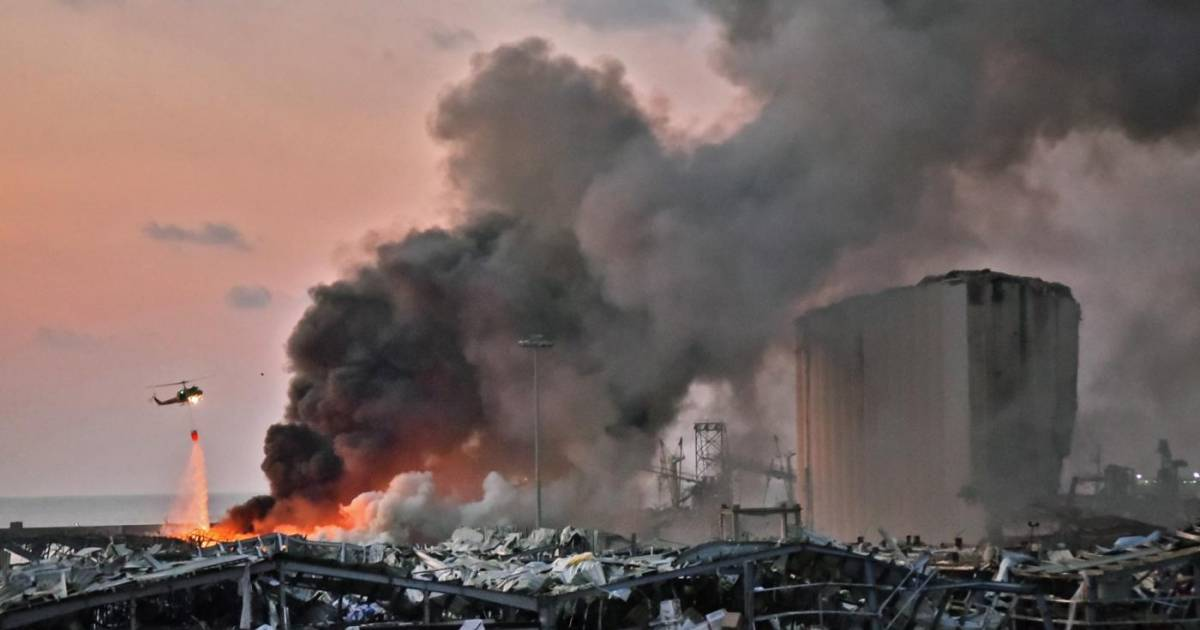 Huge Explosion In Beirut, Lebanese Capital Leaves Thousands Injured And Atleast 78 People Killed