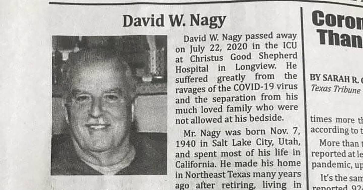 Obituary Of Texas Man Who Dies Of COVID-19 Holds A Dooming Warning For All