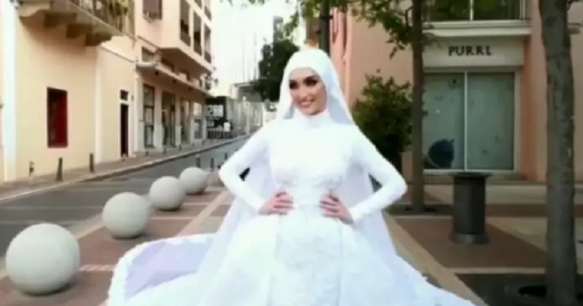 This Bride Was In The Middle Of Her Wedding Photoshoot When Beirut Blast Shook The City