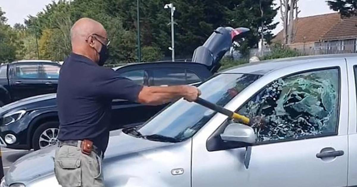 Man Saves Dog Left In Car In 34C Heatwave By Breaking Window With Axe